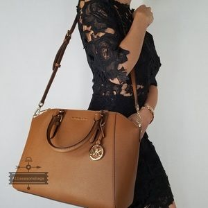 Michael Kors Ciara Large luggage satchel crossbody NWT